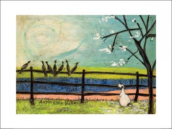 Reprodução do quadro Sam Toft - Doris and the Birdies