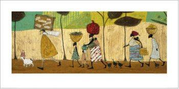 Reprodução do quadro  Sam Toft - Doris helps out on the trip to Mzuzu