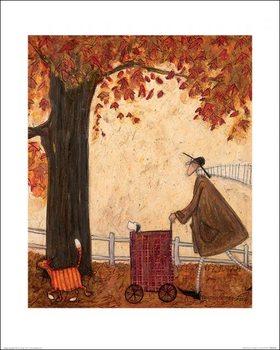 Reprodução do quadro  Sam Toft - Following the Pumpkin