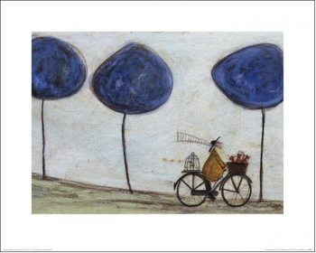 Reprodução do quadro  Sam Toft - Freewheelin' with Joyce Greenfields and the Felix 3