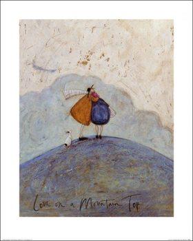 Reprodução do quadro  Sam Toft - Love on a Mountain Top