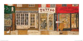 Reprodução do quadro  Sam Toft - On a Street Where You Live
