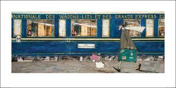 Reprodução do quadro  Sam Toft - Orient Express Ooh La La