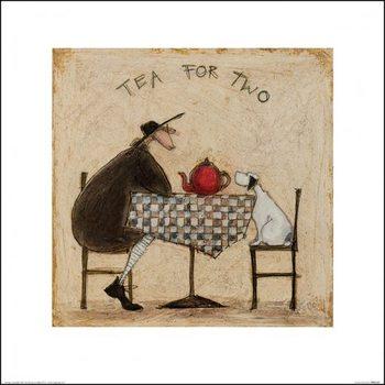 Reprodução do quadro  Sam Toft - Tea for Two