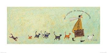 Reprodução do quadro Sam Toft - The Suitcase of Sardine Sandwiches