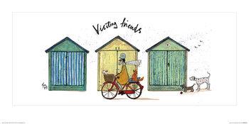 Reprodução do quadro  Sam Toft - Visiting Friends