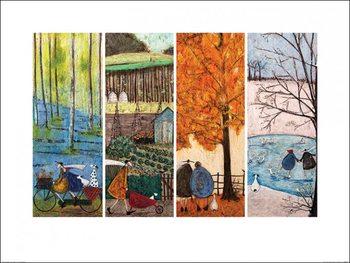 Reprodução do quadro  Sam Toft - Which is Your Favourite Season?