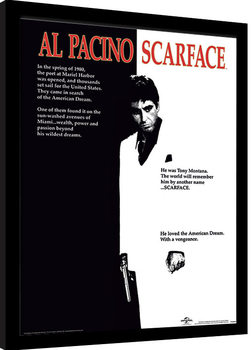 Scarface - One Sheet Poster Emoldurado