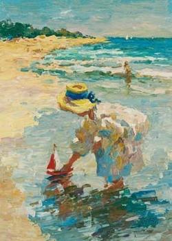 Reprodução do quadro  Seaside Summer II