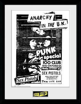 Sex Pistols - 100 Club Poster Emoldurado