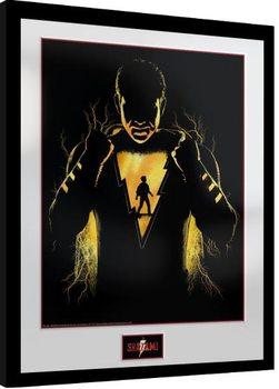 Shazam - Glow Poster Emoldurado