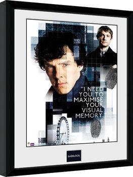 Sherlock - Memory Poster Emoldurado