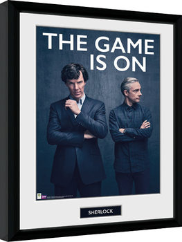 Sherlock - The Game Is On Poster Emoldurado