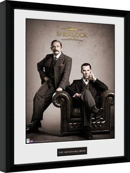 Sherlock - Victorian Poster Emoldurado