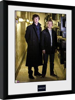Sherlock - & Watson Portrait Poster Emoldurado