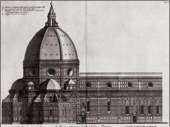 Reprodução do quadro  Side View of Santa Maria del Fiore, Florence Cathedral