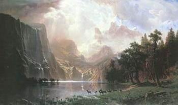Reprodução do quadro Sierra Nevada In California