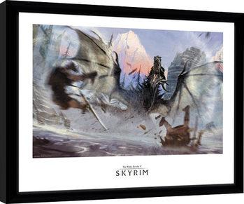Skyrim - Alduin Poster Emoldurado