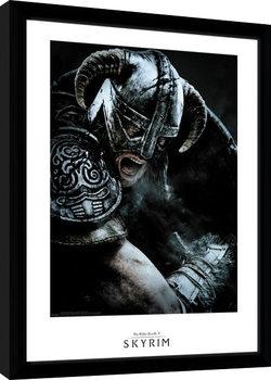 Skyrim - Attack Poster Emoldurado