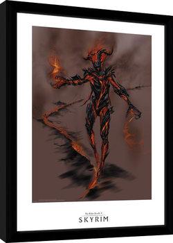 Skyrim - Flame Atronarch Poster Emoldurado