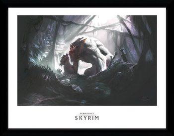 Skyrim - Troll Lair Poster Emoldurado