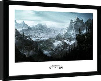 Skyrim - Vista Poster Emoldurado