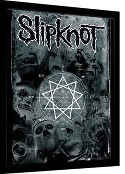 Slipknot - Pentagram Poster Emoldurado