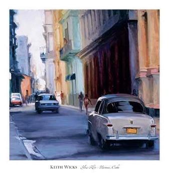 Reprodução do quadro Slow Ride - Havana, Cuba