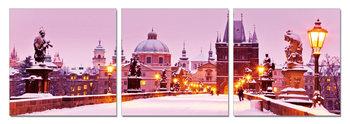 Quadro  Snowy city