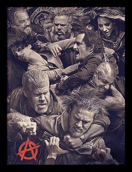 Sons of Anarchy - Fight Poster Emoldurado