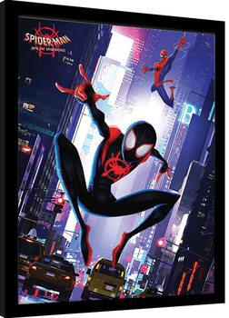 Spider-Man: Into The Spider-Verse - Swing Poster Emoldurado