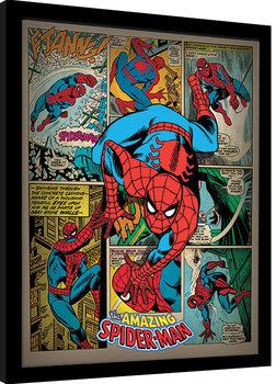 Spider-Man - Retro Poster Emoldurado
