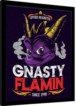 Spyro - Gnasty Flamin Poster Emoldurado