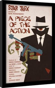 Star Trek - A Piece Of The Action Poster Emoldurado