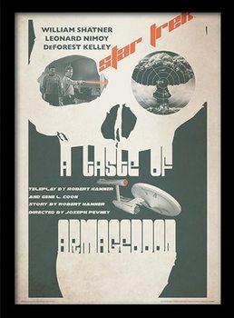 STAR TREK - a taste of armagedon Poster Emoldurado