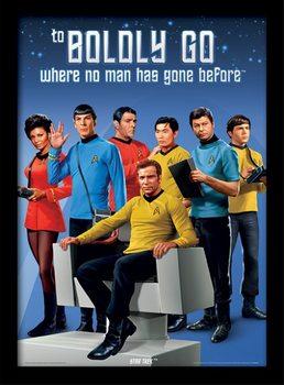 Star Trek - Boldly Go Poster Emoldurado