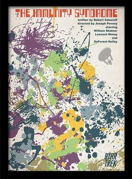 STAR TREK - immunity syndrome Poster Emoldurado