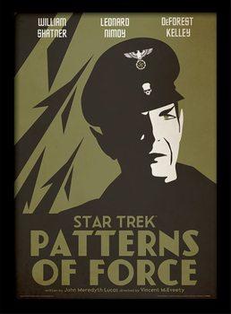 Star Trek - Patterns Of Force Poster Emoldurado