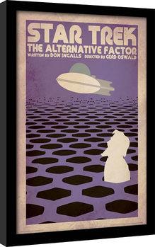 Star Trek - The Alternative Factor Poster Emoldurado