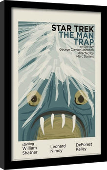 Star Trek - The Man Trap Poster Emoldurado