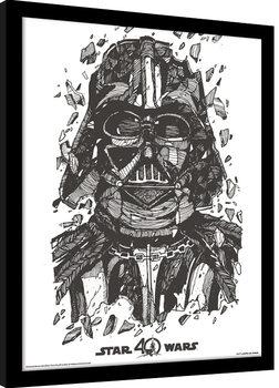 Star Wars 40th Anniversary - Darth Vader Poster Emoldurado