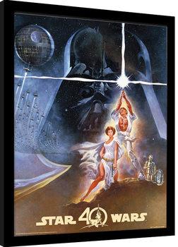 Star Wars 40th Anniversary - New Hope Art Poster Emoldurado