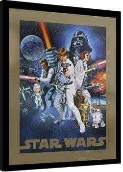 Star Wars - A New Hope Poster Emoldurado