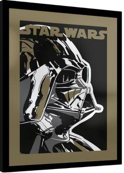 Star Wars - Dart Vader Poster Emoldurado