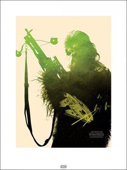 Reprodução do quadro Star Wars Episode VII: The Force Awakens - Chewbacca Tri
