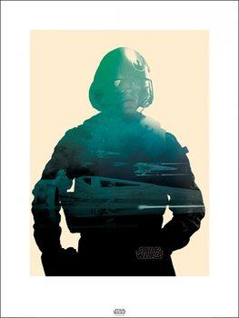 Reprodução do quadro Star Wars Episode VII: The Force Awakens - Poe Tri