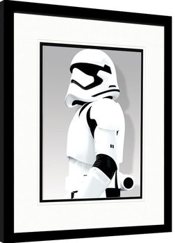 Star Wars Episode VII: The Force Awakens - Stormtrooper Shadow Poster Emoldurado