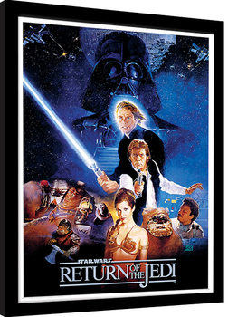Star Wars: Return Of The Jedi - One Sheet Poster Emoldurado