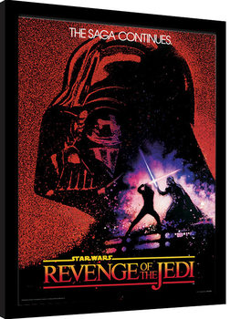 Star Wars - Revenge of the Jedi Poster Emoldurado
