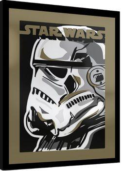Star Wars - Stormtrooper Poster Emoldurado